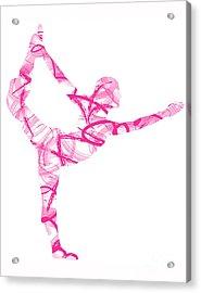 Yoga Pose Asana Standing Bow Pose Acrylic Print