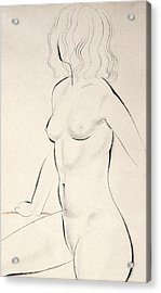 Standing Female Nude Acrylic Print