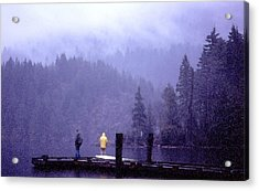 Acrylic Print featuring the photograph Standing In The Mist 2 Wc by Lyle Crump