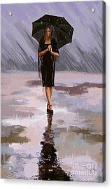 Standing-in-the-rain Acrylic Print