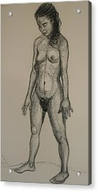 Standing Nude 5 Acrylic Print