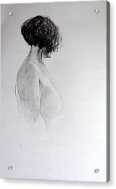 Standing Nude Acrylic Print by Harry Robertson