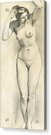 Standing Nude Acrylic Print by William Edward Frost