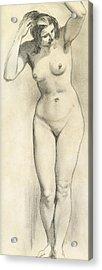 Standing Nude Acrylic Print