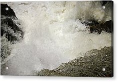 Standing On A Waterfall Acrylic Print