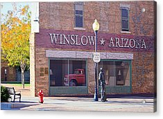 Acrylic Print featuring the photograph Standing On The Corner by AJ Schibig