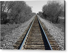 Standing On The Tracks Acrylic Print by Robyn Stacey