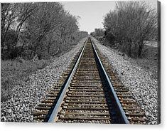 Standing On The Tracks Acrylic Print