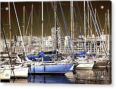 Standing Out In Marseille Acrylic Print by John Rizzuto