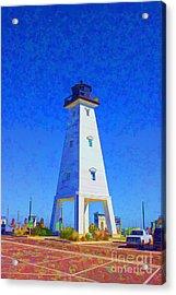 Standing Proud Lighthouse Acrylic Print