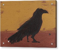 Standing Raven 2 Acrylic Print by Sophy White