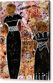 Standing Steadfast In Love And Kindness Acrylic Print by Angela L Walker