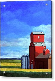 Acrylic Print featuring the painting Standing Tall by Linda Apple