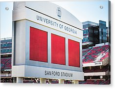 Acrylic Print featuring the photograph Standing Tall Over Sanford Stadium  by Parker Cunningham