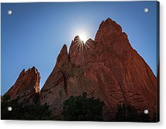 Standstone Sunburst - Garden Of The Gods Colorado Acrylic Print