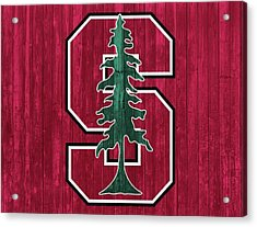 Stanford Barn Door Acrylic Print by Dan Sproul