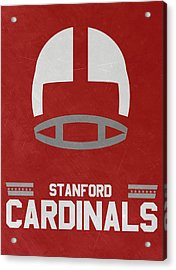 Stanford Cardinals Vintage Football Art Acrylic Print