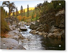 Acrylic Print featuring the painting Stanislaus Fall Sunset Looking East by Larry Darnell