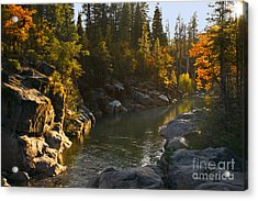 Acrylic Print featuring the painting Stanislaus Sunset Larry Darnell by Larry Darnell