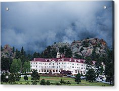 Stanley Hotel At Estes Park Acrylic Print by Gregory Scott