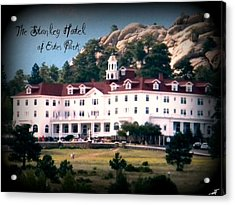 Acrylic Print featuring the photograph Stanley Hotel by Michelle Frizzell-Thompson