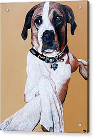 Acrylic Print featuring the painting Stanley by Tom Roderick