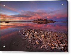 Sunset At A Favorite Spot On The Great Salt Lake Acrylic Print
