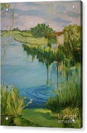 Stanwick Lakes Acrylic Print