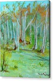 Stanwick Lakes Trees Acrylic Print