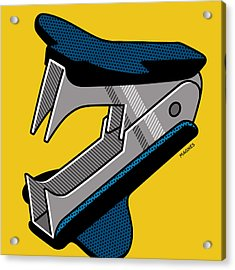 Acrylic Print featuring the digital art Staple Remover by Ron Magnes