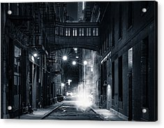 Staple Street Skybridge By Night Acrylic Print