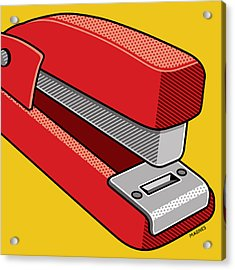 Acrylic Print featuring the digital art Stapler by Ron Magnes