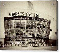 Staples Center Acrylic Print by Ariane Moshayedi
