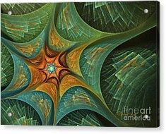 Star Abstract Acrylic Print by Deborah Benoit
