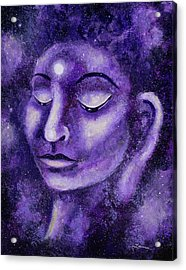Star Buddha Of Purple Patience Acrylic Print by Laura Iverson