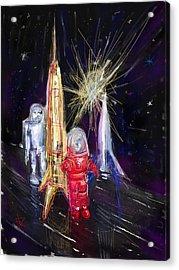 Star City Acrylic Print by Russell Pierce