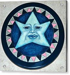 Star Face Lazy Susan Acrylic Print by Mickie Boothroyd