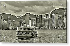 Star Ferry In Hong Kong Acrylic Print by Joe  Ng