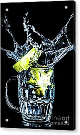Acrylic Print featuring the photograph Star Fruit Splash by Ray Shiu