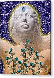 Star Goddess Acrylic Print by Keith Dillon