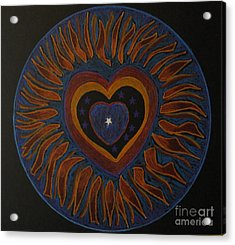 Acrylic Print featuring the drawing Star In My Heart by Patricia Januszkiewicz