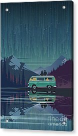 Acrylic Print featuring the painting Star Light Vanlife by Sassan Filsoof