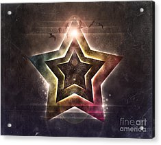 Acrylic Print featuring the digital art Star Lights by Phil Perkins