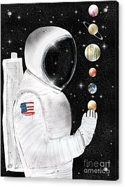 Acrylic Print featuring the painting Star Man by Bri B