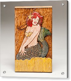 Star Mermaid Acrylic Print by James Neill