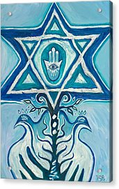 Star Of David Acrylic Print