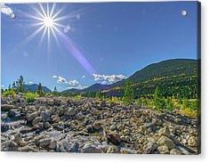 Star Over Creek Bed Rocky Mountain National Park Colorado Acrylic Print