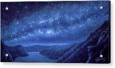 Star Path Acrylic Print by Lucy West