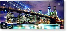 Star Spangled Skyline Acrylic Print by Az Jackson