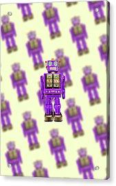 Star Strider Robot Purple Pattern Acrylic Print by YoPedro